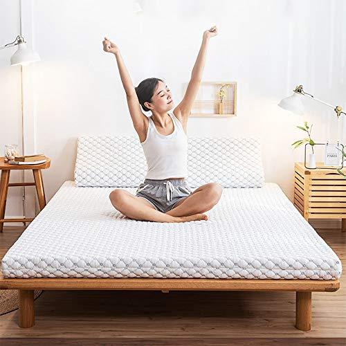 GWW Látex Natural Colchón, Espesar Tatami Cama Colchón Plegable Cama Primeros del Colchón Respirable Que Matt Mat Sleeping Pad para Dormitorio Habitación Familiar-a 180x200cm(71x79inch)