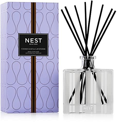 NEST Fragrances Reed Diffuser- Cedar Leaf & Lavender , 5.9 fl oz