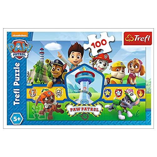Trefl, WPU-16351-01-001-01 Puzzle, Das Heldenteam, 100 Teile, PAW Patrol, für Kinder ab 5 Jahren