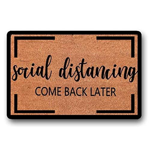 Funny Welcome Mat, Door Mat, Quarantine, Social Distancing, Handmade, Doormat, Funny 23.6' x 15.7'