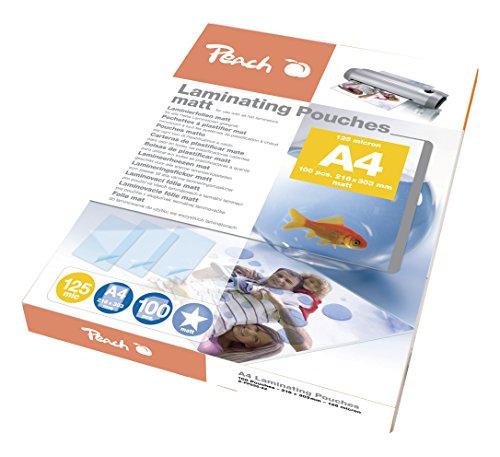 Peach S-PP525-22 Laminierfolien DIN A4, 125 mic, matt, 100 Stück