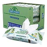 My Happy Planet Toallitas húmedas para bebés 100% biodegradables, sin plástico - 99.9% de agua purificada - sin alcohol - Ecológico - Vegano - Compostable ((12 paquetes, 720 toallitas))
