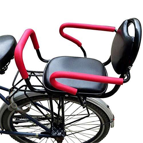 BNVN Asiento para Bicicleta, Asiento Trasero extraíble para Bicicleta, Consola para niños con reposabrazos y Pedales Antideslizantes, Asiento para bebés con Pedales de Respaldo