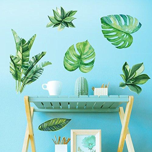 Graz Design - Adhesivo decorativo para pared, diseño de plátano, con hojas de plátano, resistente al agua y desmontable, 60 x 90 cm
