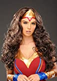 Magic Box Mesdames Wonder Woman Style Perruque Longue Brune