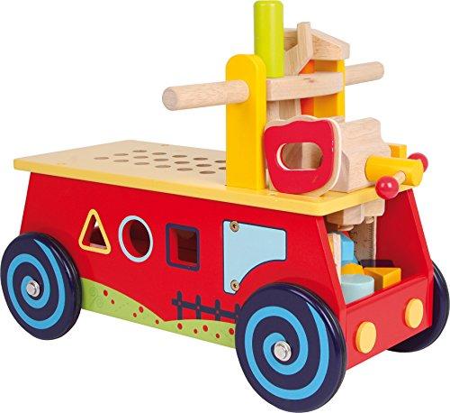 """small foot 1595 Motorikwagen """"Werkbank"""" aus Holz, mit allerlei Zubehör, Spielspaß und..."""