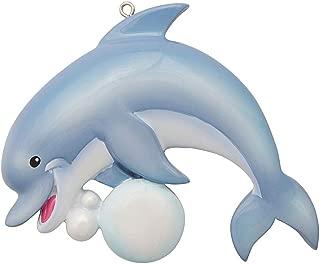 Personalized Dolphin Aquarium Animals Christmas Tree Ornament 2019 - Happy Pod Swim Tour Vacation Memory Cove Trainer Lagoon Tropic Friend Grand-Kid Child Son Daughter Theme - Free Customization