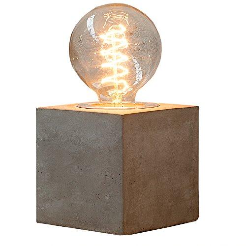 Moderne Tischleuchte CEMENT CUBE Industrial Design Beton Tischlampe Industrielampe Industrieleuchte