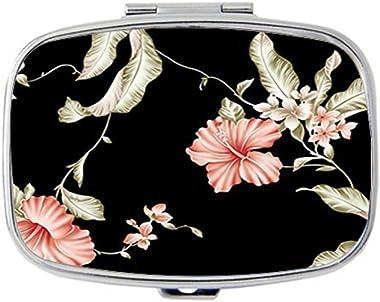 Kuaile Bird Multipurpose Flowers Customized Box case Holder Durable Stainless Steel Box case Gift for Pocket or Purse