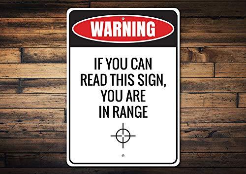 Blijf uit eigendom teken, Horloge pistolen, U bent in bereik teken, Stop Trespassing teken, Trespass, Room Decor, Metalen teken, Kwaliteit Metalen Teken Decor, Aluminium Tin Plaque Wall Art Poster 12