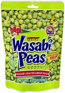 Hapi Hot Wasabi Peas 4.23 Oz (Pack of 4) by HAPI