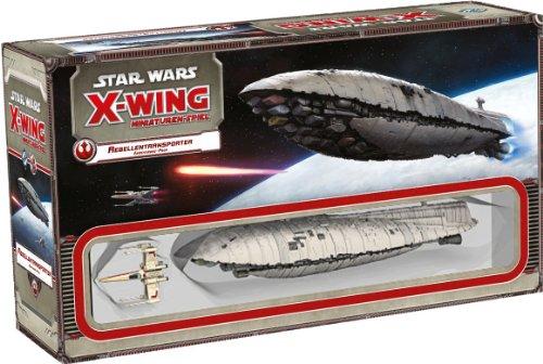 Asmodee HEI0414 - Star Wars X-Wing - Rebellentransporter Erweiterung-Pack