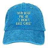 zhkx You Lost Me at I Don't Like Cats4 - Gorra de béisbol para adulto ajustable