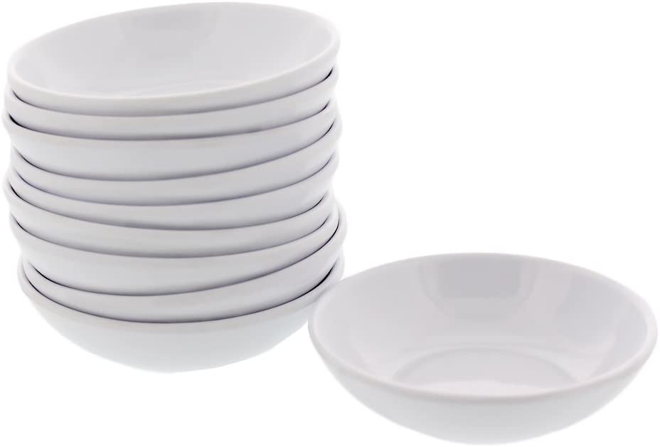 10 Pieces Melamine Soy Sauce Dish 3.75x2.5 inches Many Color New