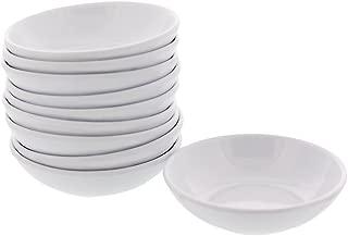 Melamine Plastic White Soy Sauce Dish - Pack of 10