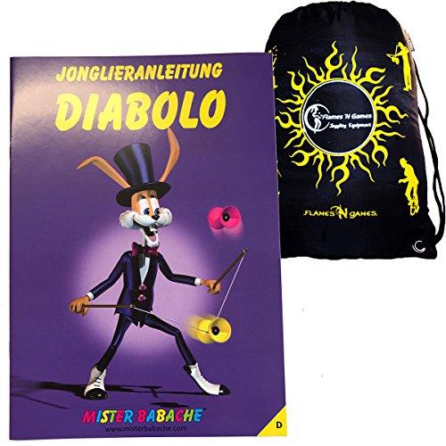 Mr Babache Diabolo Lernen Booklet Broschüre auf Deutsch + Reisetasche! Buch vom Diabolo Tricks für Anfänger Von Jedem Alter!