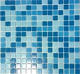 MOS52-0402 - Azulejos de mosaico de cristal para piscina, color azul claro