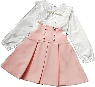 JIANLANPTT Prety Child Girls Princess Dress Set Flounced Blouse +Suspend Skirt