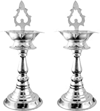 Sri Jagdamba Pearls Dealer Sparkling Traditional Silver Diyas
