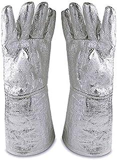 932 ° -835.6 ° C Guanti ignifughi a isolamento termico in lamina di alluminio, guanti di sicurezza in acciaio resistente all'Iracolo HCT01-D