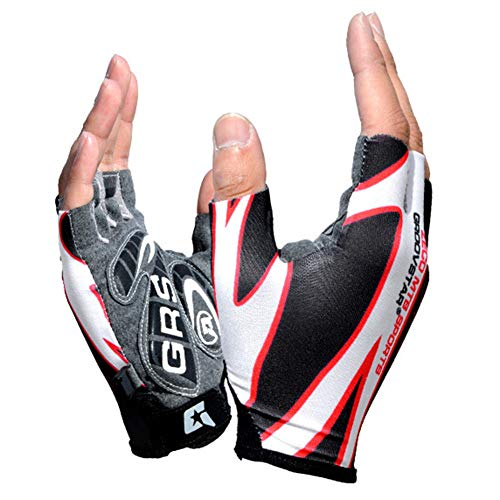 Auoiuoy Fingerless Mitts,Cycling Gloves Breathable,Half Finger Gloves,Non-Slip Mitten Summer,for Outdoor Sport Biking Riding Skating Balance Bike Scooter Boys,A-L