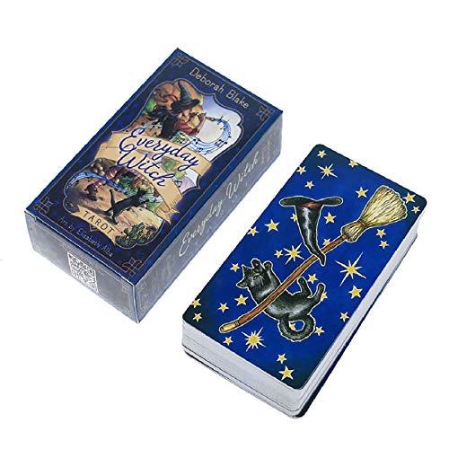 Tarocchi,Regalo Festa in Famiglia, Carte di Oracle Strega di Tutti I Giorni, per Adolescenti Divertenti Giochi di Carte da Tavolo (Color:Un)