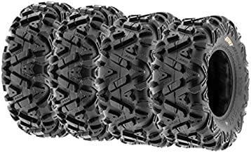 SunF Power.I ATV/UTV all-terrain Tires 24x8-12 Front & 24x10x11 Rear, Set of 4 A033, 6-PR, Tubeless