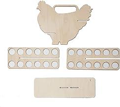 Automatisch scrollen eieren opslaghouder, eierrek draagbaar werkblad eierrek keuken opslag organisatierek hout huishoudeli...