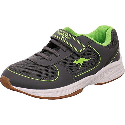 KangaROOS Sinu EV Unisex-Kinder Sneaker, Grau (Steel Grey/Lime 2014), 37 EU