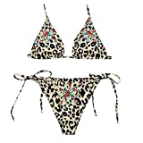 FRAUIT Leopardato Donna Abbigliamento Costumi da Bagno Ragazza Due Pezzi Brasiliana Sexy Hot Bikini Donna Mare Push Up Perizoma Bikini Donna Mare Bikini Due Pezzi Mare Spiaggia Push up