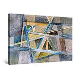 Startonight Cuadro Moderno en Lienzo - Lineas Geometricas - Pintura Abstracta para Salon Decoración Grande 80 x 120 cm