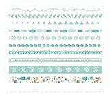 AUBERSIT 10 unids/Lote Cinta Adhesiva Decorativa Washi, Pegatinas de Suministros para álbumes de Recortes, A