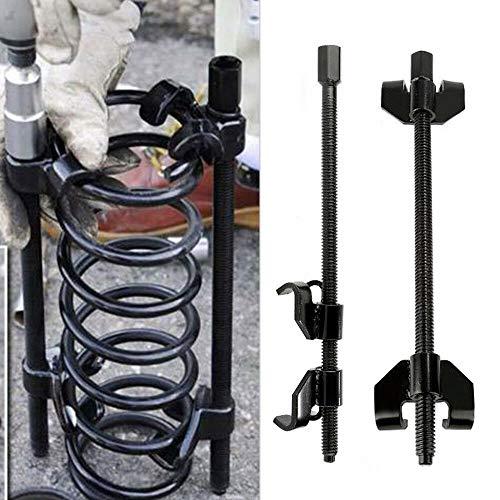 JUEYAN 2 Piezas Compresores de Muelle de Amortiguación Juego de Tensores de muelles Kit de Compresores de Muelles para Desmontaje de Amortiguadores de Coche,370 mm,Negro