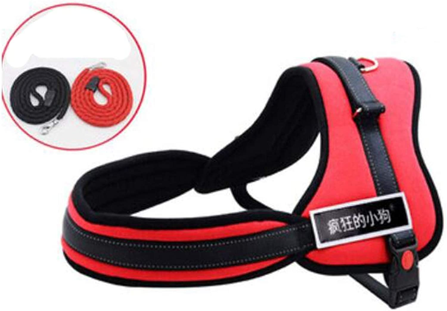 Pet Leash, Dog Leash, Chest Strap, Medium Dog, Dog Chain, Large Dog, Dog Collar, pet Supplies, k8, red, Yellow, Green, 3 colors, 5 Sizes (color   Red, Size   S)