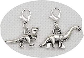 AP376 resin acrylic handmade jewelry making DIY finding necklace earring decoration 15pcs plastic dinosaur brachiosaurus pendant charm