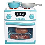 BLACK+DECKER Junior Oven and Stove Role Play Pretend Kitchen Appliance for Kids with Realistic...