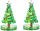 2 PCS Magic Growing Crystal Christmas Tree Presents Novelty Kit for Kids Funny Educational and Party Toys (2 PCS)