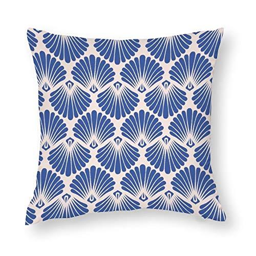 YY-one - Funda de almohada decorativa de algodón para sofá o sillón, diseño vintage, sin costuras, 50 x 50 cm