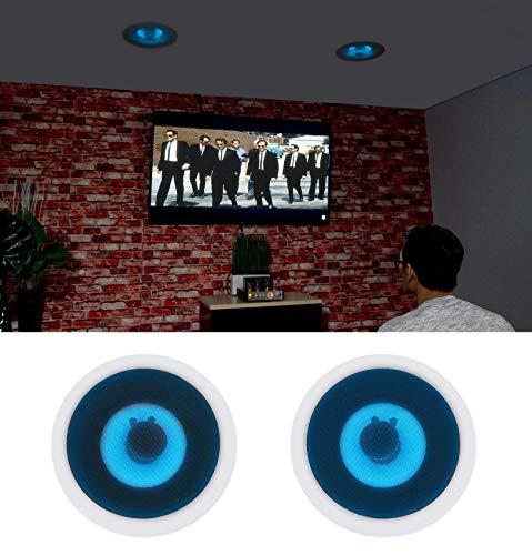 """(2) Rockville HC85B-LED 8"""" 700 Watt in-Ceiling Home Theater Speakers w/Blue LED"""