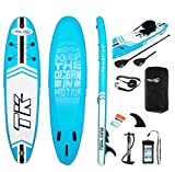 Tidal King 10ft SUP Inflatable Stand Up Paddle Board with Kayak Seat Kayak Converting Paddle - Perfect for Beginners and Beyond for Kids & Adults