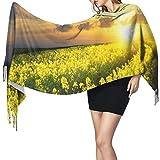 Bufanda de mantón Mujer Chales para, Beautiful Sunset Sky Moda para mujer Mantón largo Invierno Cálido Bufanda grande Bufanda de cachemira