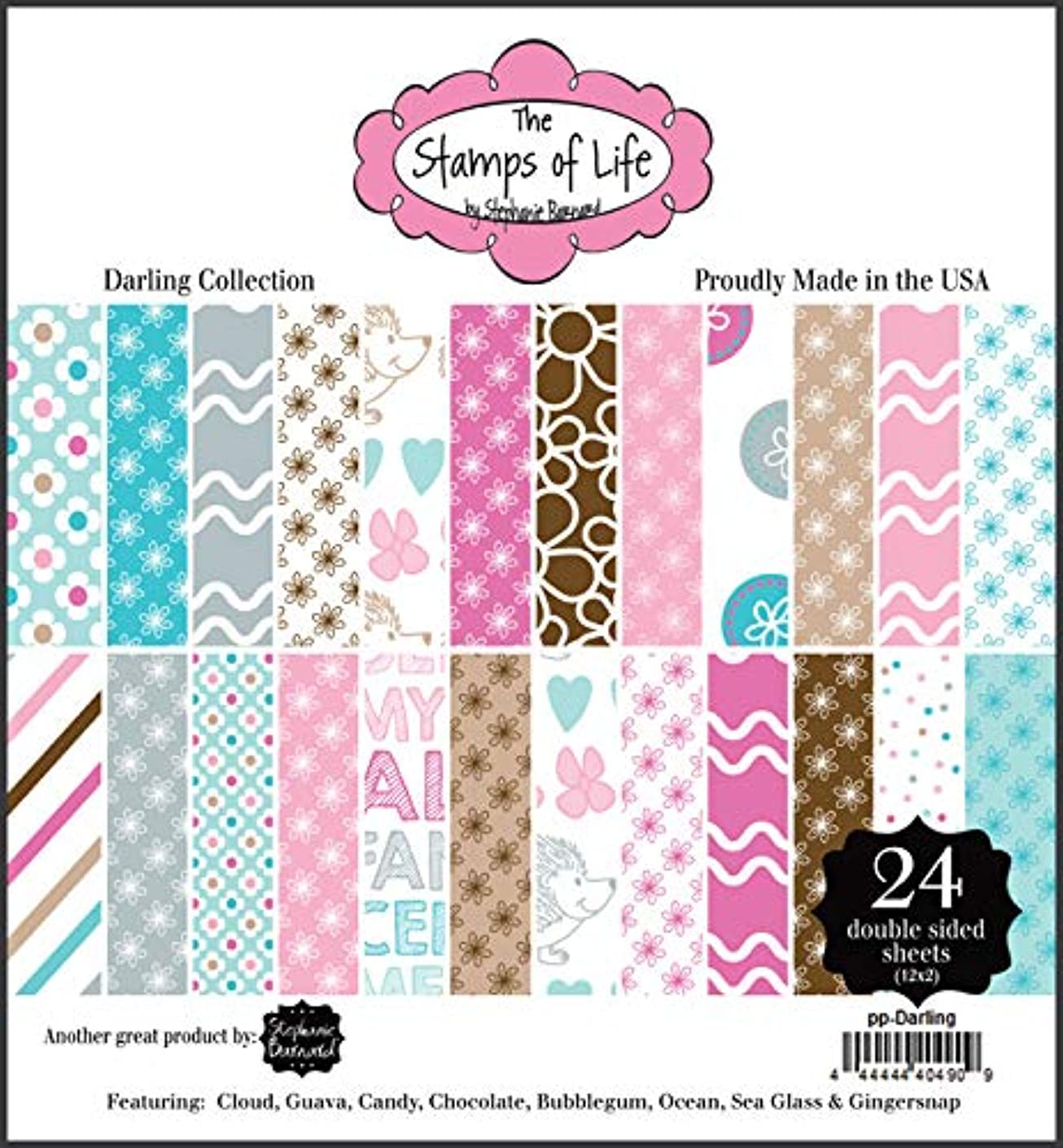 Darling Patterned Paper Pad for Card-Making and Scrapbooking by The Stamps of Life - 24 Sheets 6