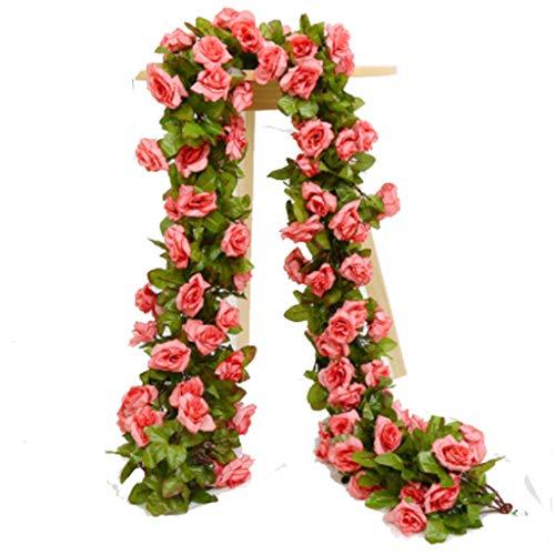 Artificial Flower Fake Rose Vine Garland Artificial Flowers Plants for Hotel Wedding Home Party Garden Craft Art Decor Plants Indoor Outdoor Decor