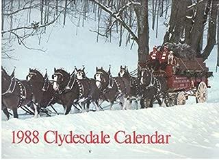 1988 BUDWEISER CLYDESDALE CALENDAR