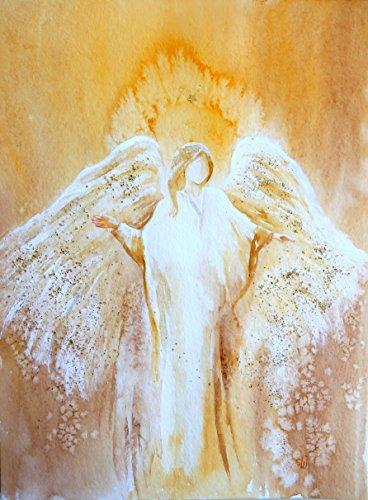 silwi-art***** Engelbild Dein Schutzengel ist Immer bei Dir Engelposter hochwertiger Fotoprint 30 x 40 cm - Bezaubernde Geschenkidee Wanddeko