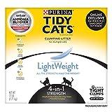 Purina Tidy Cat Litière pour chat 4 en 1 Poids léger 4 en 1 Poids 5,4 kg Boîte