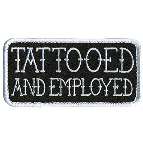 Officially Licensed Originals Tattooed and Employed, Embroidered Iron-On/Saw-On Rayon Patch - 4' x 2'