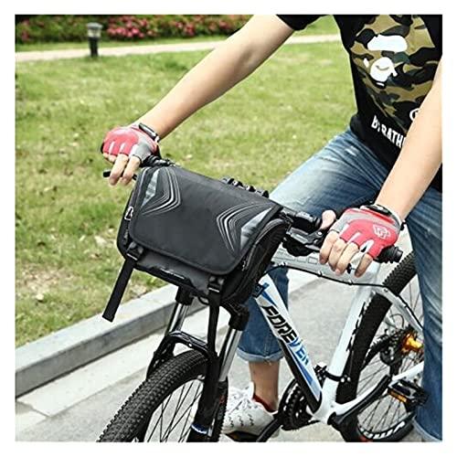 Borsa da sella per bicicletta Sacchetto impermeabile Bike di grande capienza del manubrio anteriore del sacchetto del tubo della bicicletta Pocket spalla lo zaino di riciclaggio della bici Accessori C