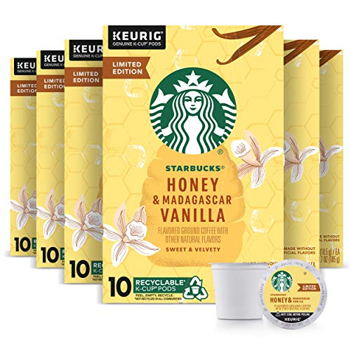 Starbucks Honey amp Madagascar Vanilla K Cup Coffee Honey Vanilla 60Count