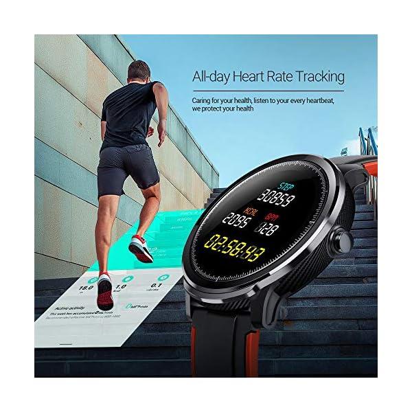 SmartWatch,Reloj Inteligente Impermeable IP68,Bluetooth Relojes Deportivos Pantalla t¨¢ctil completa para monitor… 5